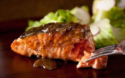 Serrano Honey-Lime Grilled Salmon