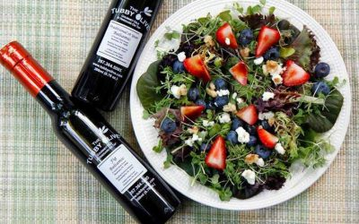 Arugula with Berries and Chocolate Balsamic Vinaigrette