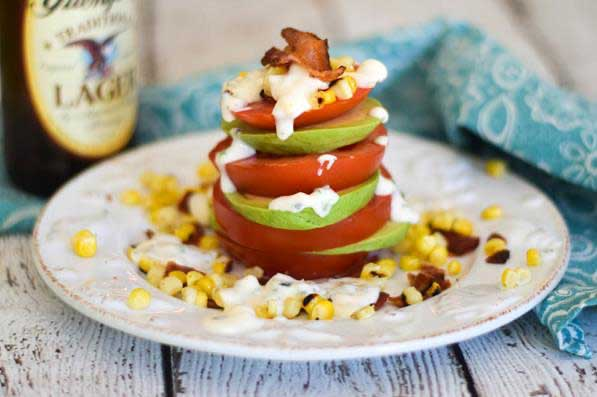 """Create Your Own"" Caprese Tomato-Avocado Stacks"